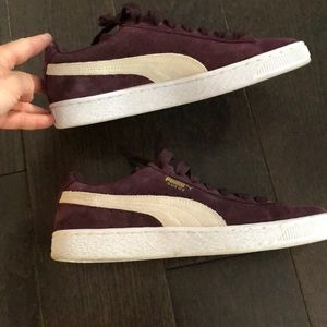 Puma suede sneakers size 7.5 burgundy